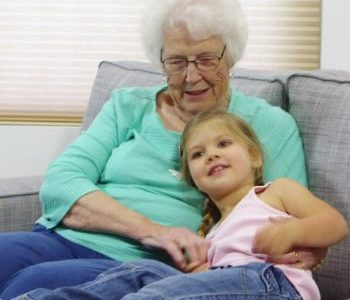 Bobbie Jo Rae pictured as a child with her Grandmother